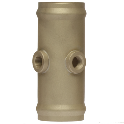 "Dual Port 3/4""OD x 3""Brass Hose Coupling"