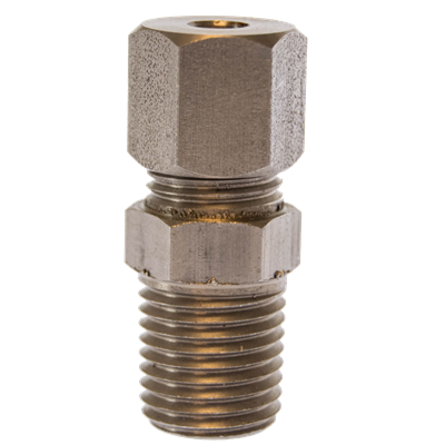 "1/8"" MNPT x 0.125"" OD Stainless Fitting"
